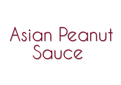 Asian Peanut Sauce