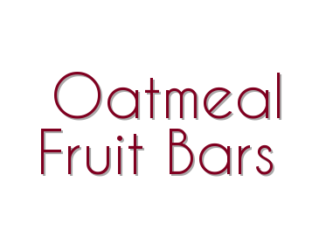 Oatmeal Fruit Bars