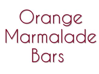 Orange Marmalade Bars