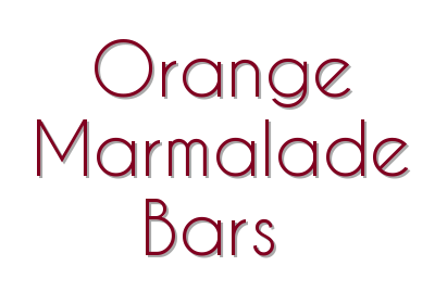 Orange Marmalade Bars