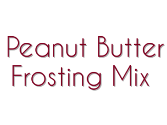 Peanut Butter Frosting Mix