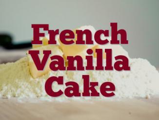 French Vanilla Cake