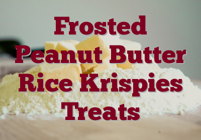 Frosted Peanut Butter Rice Krispies Treats