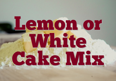 Lemon or White Cake Mix