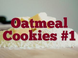 Oatmeal Cookies #1