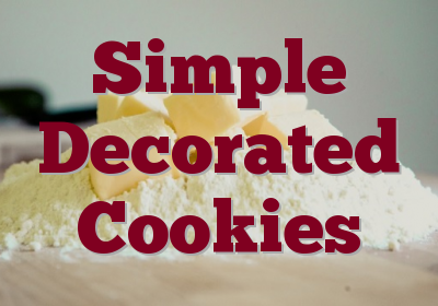 Simple Decorated Cookies