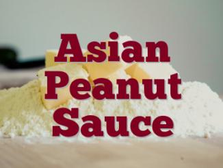 Asian Peanut Sauce