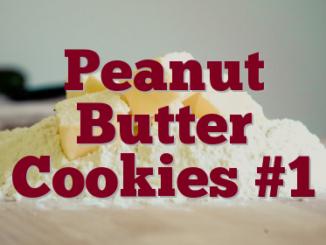 Peanut Butter Cookies #1